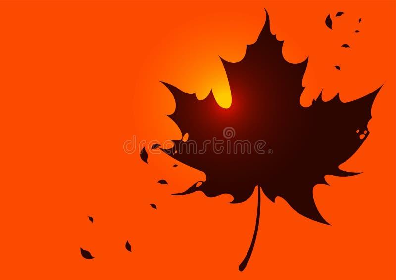 Hojas del fondo del otoño del ejemplo ilustración del vector