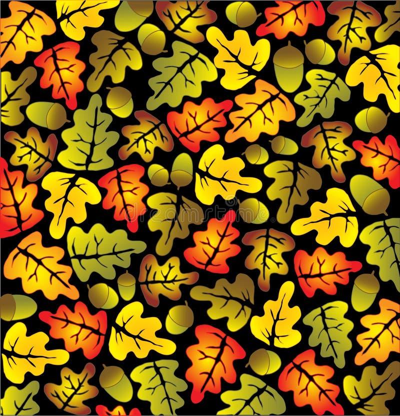 Hojas del roble del otoño stock de ilustración