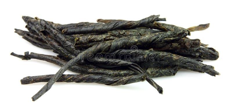Hojas del té verde imagen de archivo libre de regalías