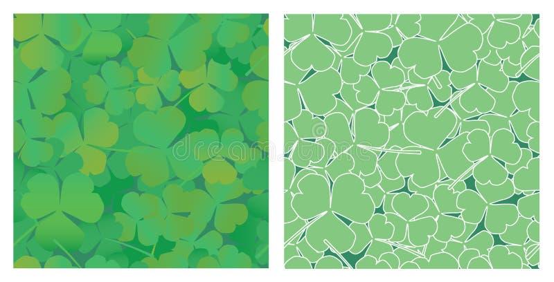 hojas del trébol stock de ilustración