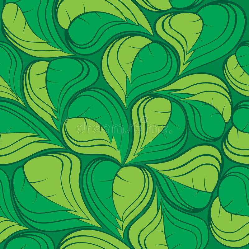 Hojas 01 del verde foto de archivo