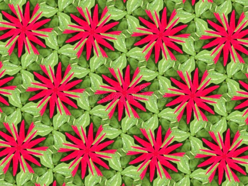 Hojas del verde y flor rosada imagen de archivo libre de regalías