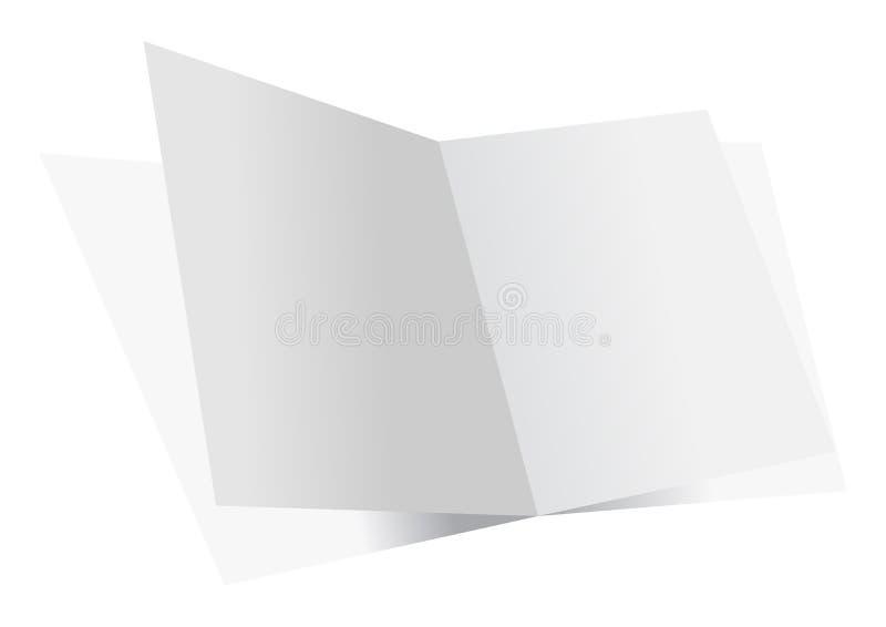 Hojas dobles en blanco ilustración del vector