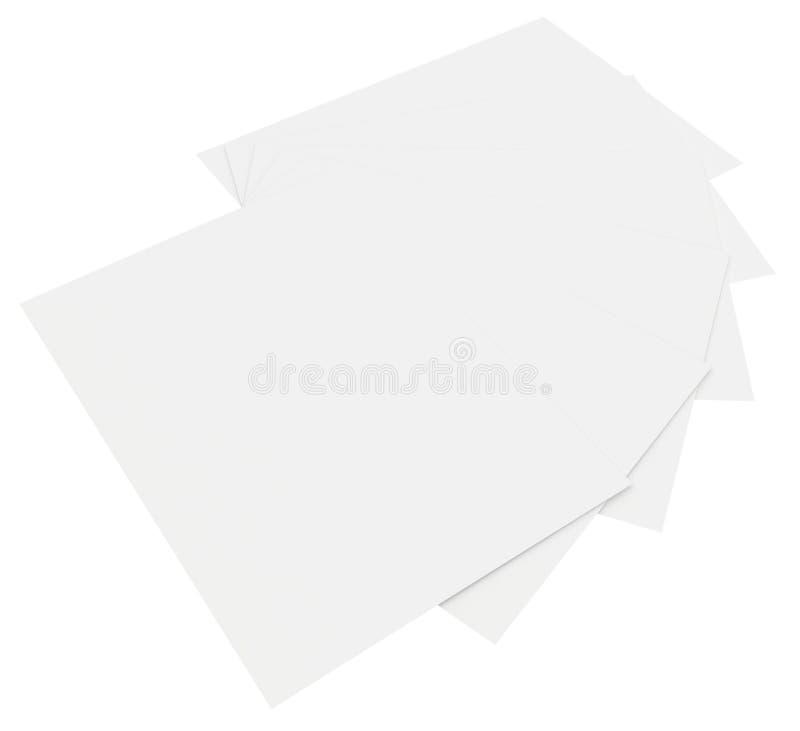 Hojas en blanco del Libro Blanco apiladas en la orden libre illustration