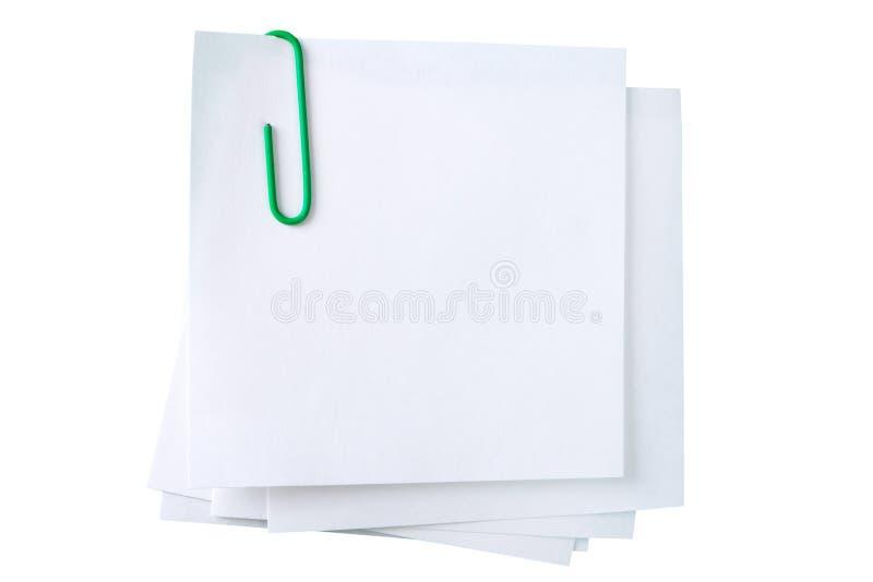 Hojas para las notas foto de archivo libre de regalías