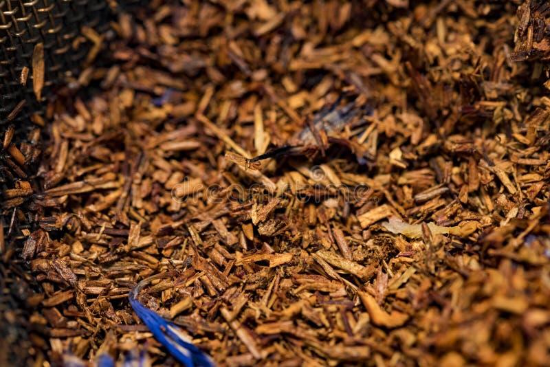 Hojas rojas del té Té de Redbush imágenes de archivo libres de regalías