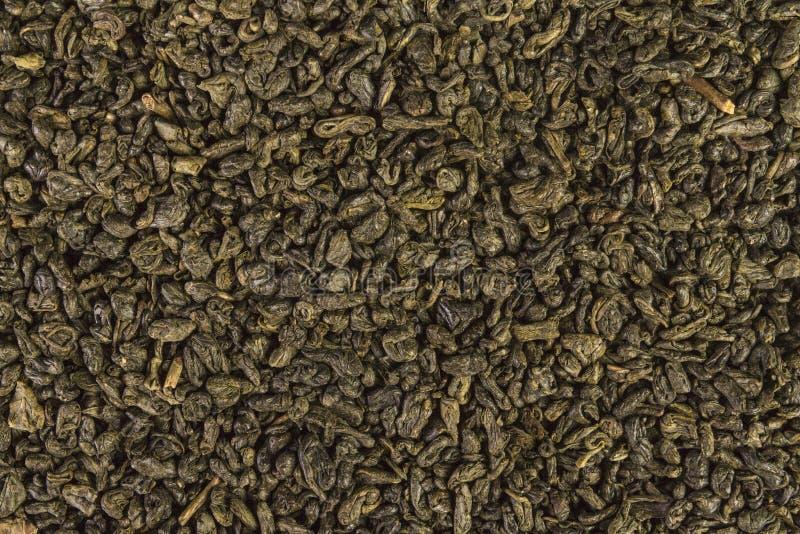 Hojas secadas del té chino verde de la pólvora foto de archivo libre de regalías