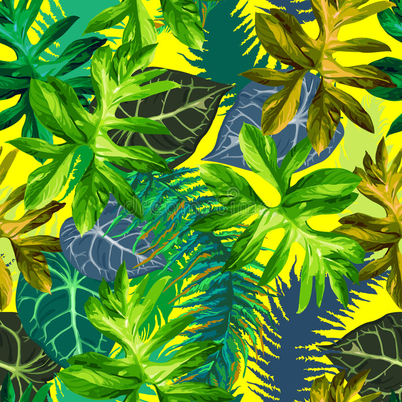 Hojas tropicales stock de ilustración