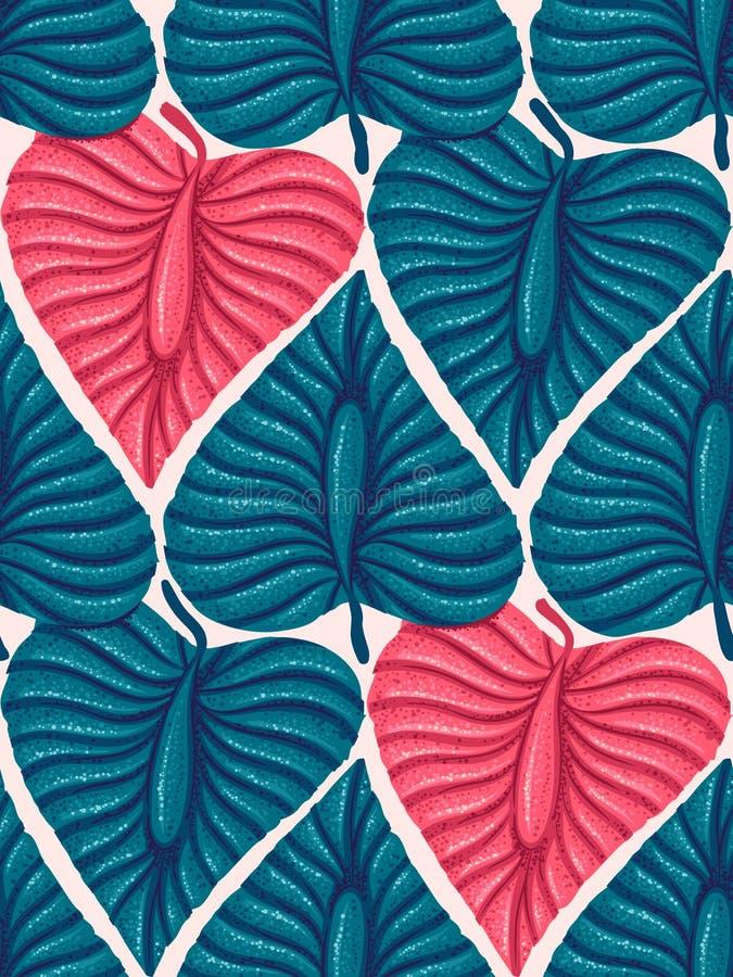 Hojas tropicales exóticas ilustración del vector