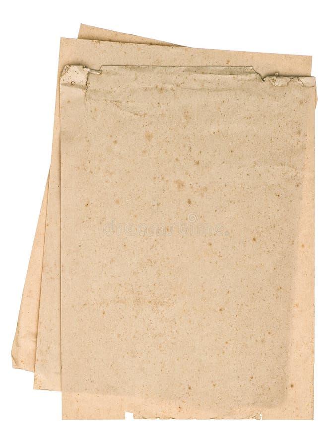 Hojas usadas del papel de la mirada Páginas texturizadas del libro imágenes de archivo libres de regalías