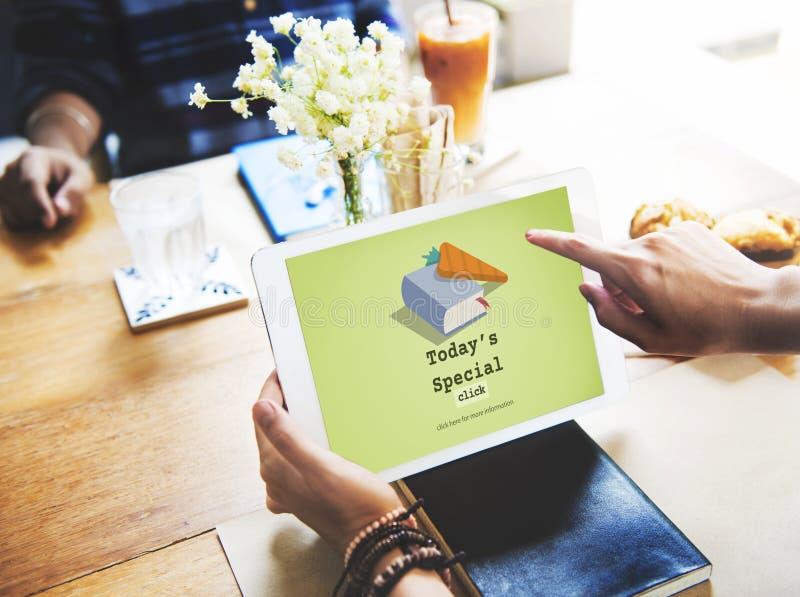 Hoje conceito rápido especial do almoço do menu das receitas do ` s imagens de stock royalty free