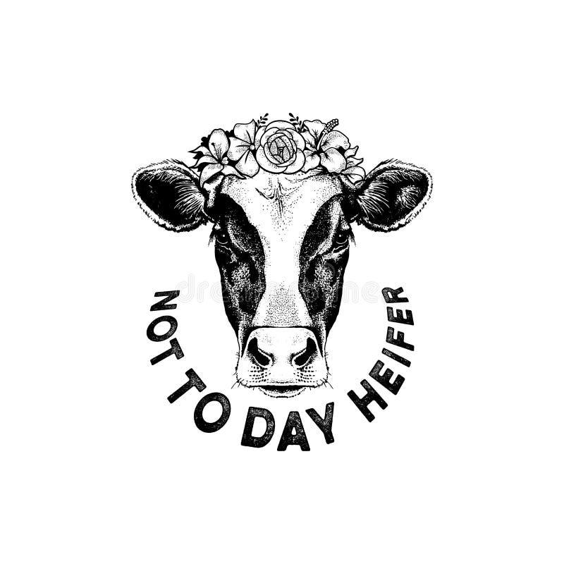 Hoje não é Heifer Clothing ilustração do vetor