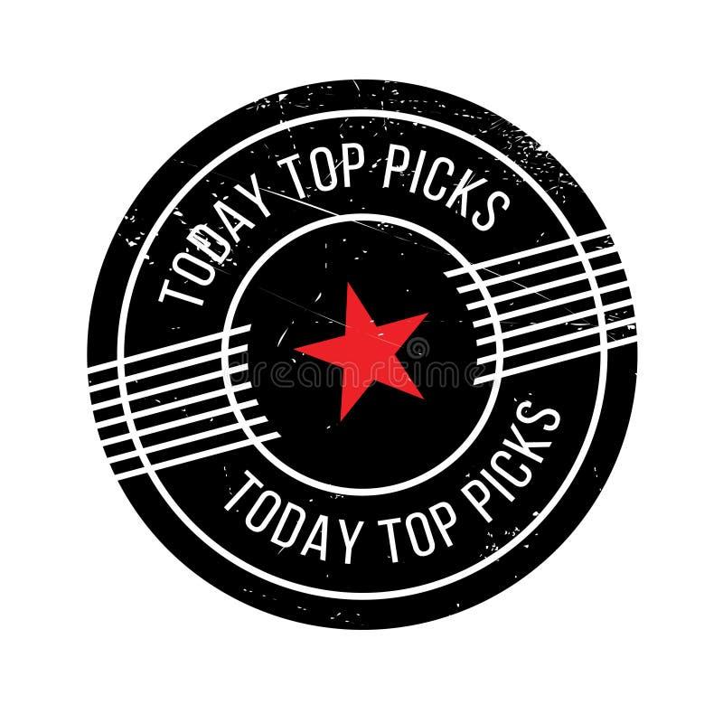 Hoje a parte superior escolhe o carimbo de borracha fotos de stock royalty free