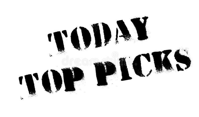 Hoje a parte superior escolhe o carimbo de borracha imagens de stock royalty free