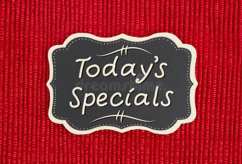 Hoje sinal dos Specials do ` s fotografia de stock
