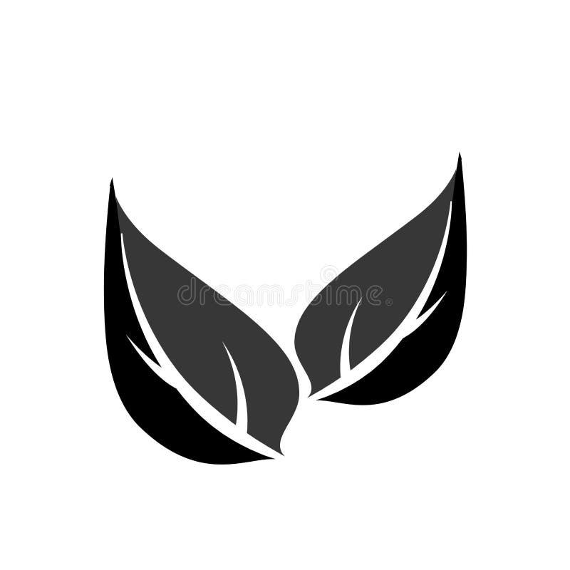 Hojea el icono aislado símbolo de la ecología libre illustration