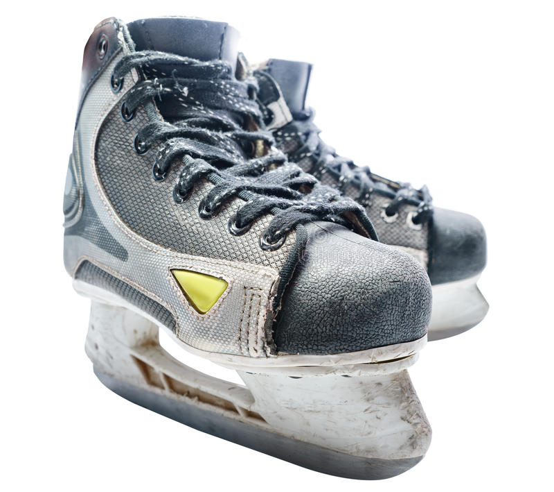 Hokej łyżwa Łyżwa odizolowywająca zdjęcia stock