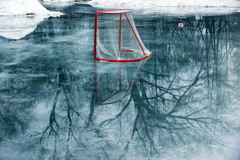 Hokej bramy zdjęcie royalty free