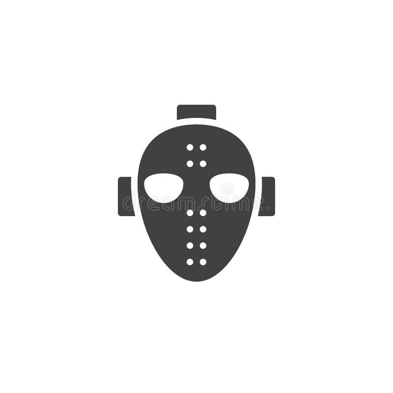 Hokej ikony maskowy wektor royalty ilustracja
