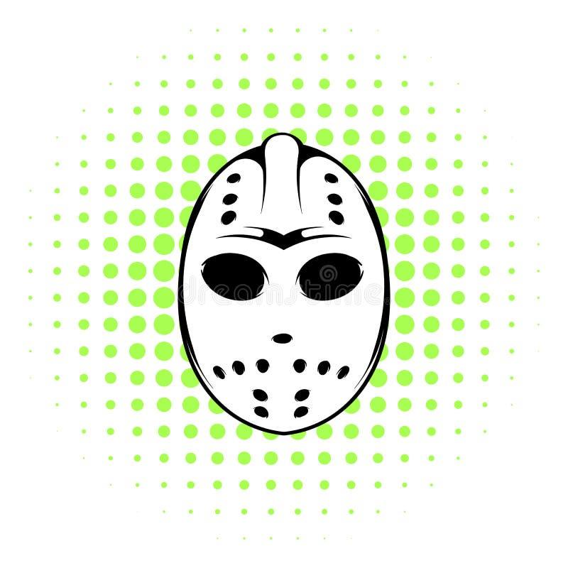 Hokej maskowa ikona, komiczka styl ilustracja wektor