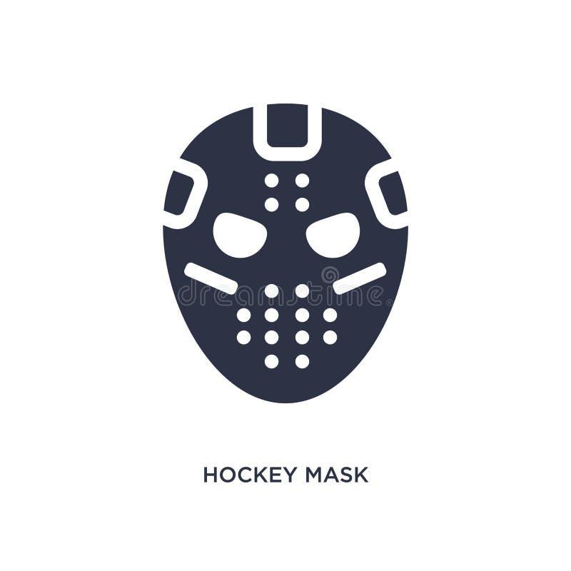 hokej maskowa ikona na białym tle r royalty ilustracja