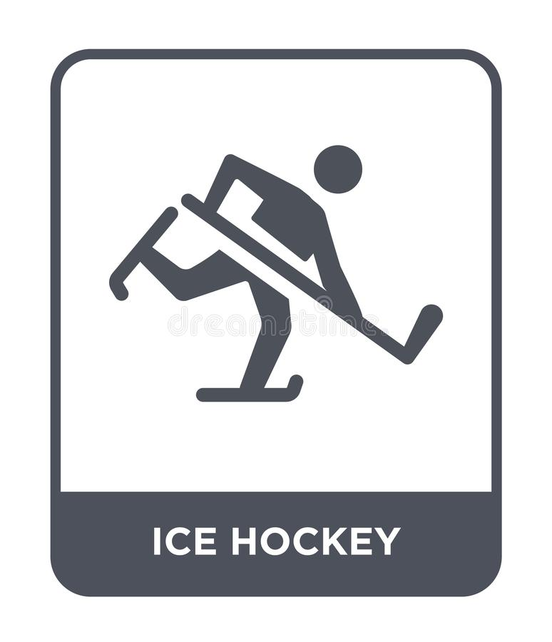 hokej na lodzie ikona w modnym projekta stylu hokej na lodzie ikona odizolowywająca na białym tle hokej na lodzie wektorowa ikona royalty ilustracja