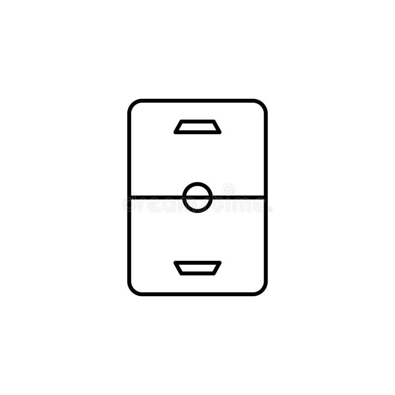Hokej, pole, zima, sporta konturu ikona Element zima sporta ilustracja Znaki i symbol ikona mogą używać dla sieci, logo ilustracji