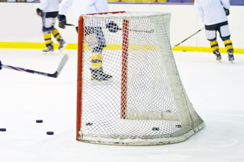 Hokej sieć fotografia stock