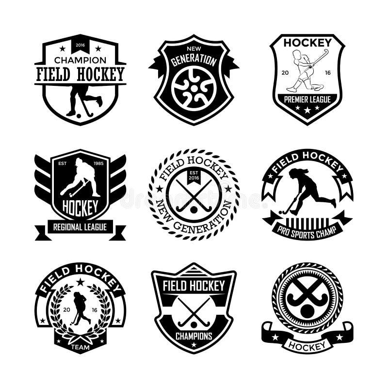 hokej Wektorowe ikony 14 zdjęcia stock