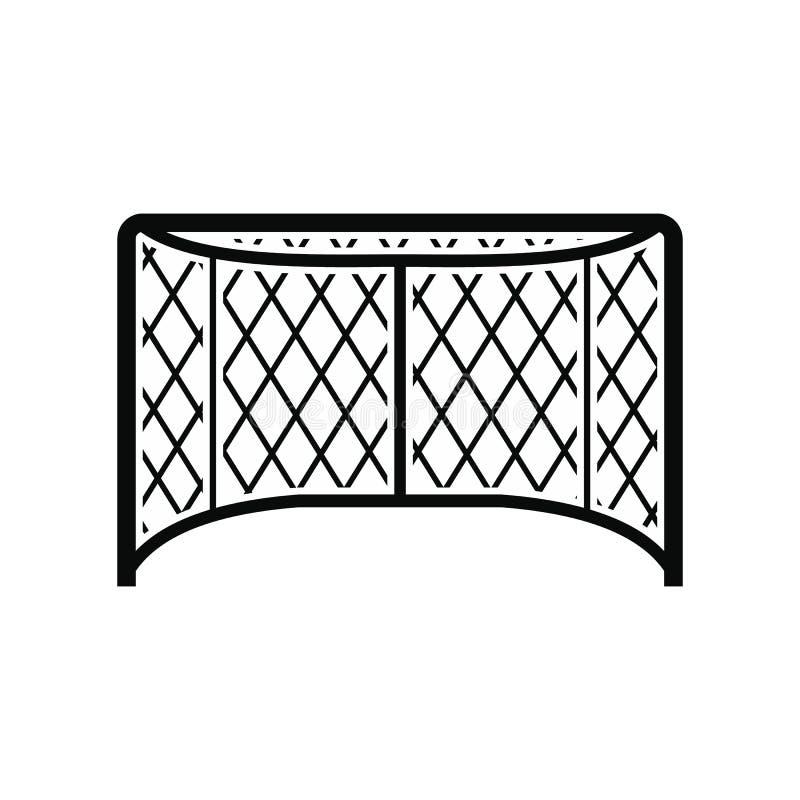 Hokej zakazuje czarną prostą ikonę ilustracji