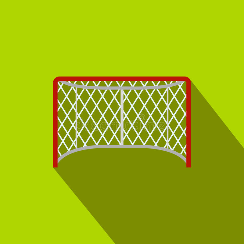 Hokej zakazuje płaską ikonę ilustracja wektor