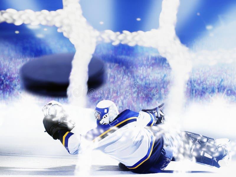 hokeja bramkowy lód zdjęcia stock