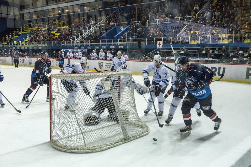 hokeja dopasowanie zdjęcie stock