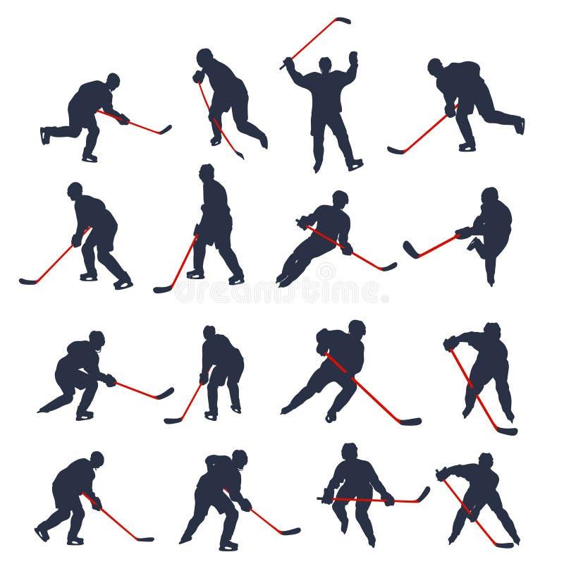Hokeja dwa barwiący set 01 ilustracja wektor