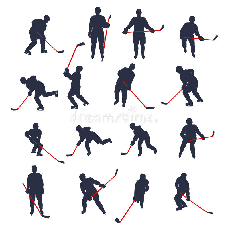 Hokeja dwa barwiący set 02 ilustracji