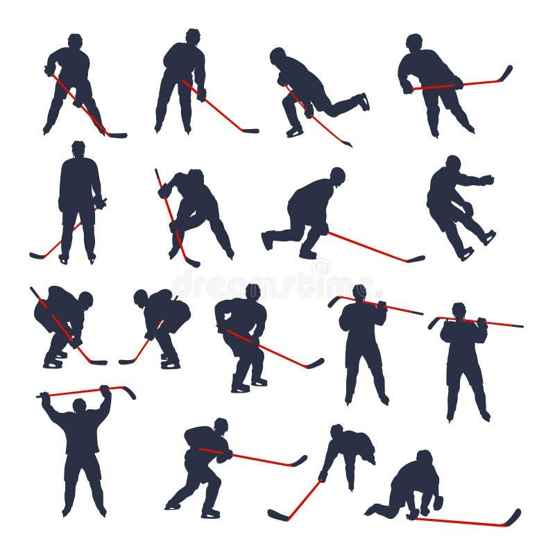 Hokeja dwa barwiący set 03 ilustracji