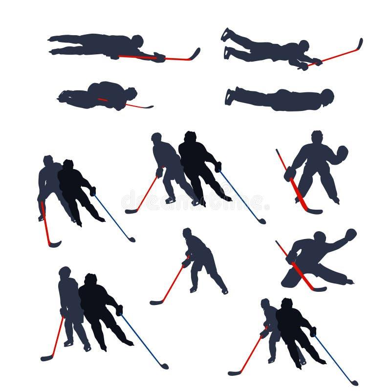 Hokeja dwa barwiący set 04 ilustracji