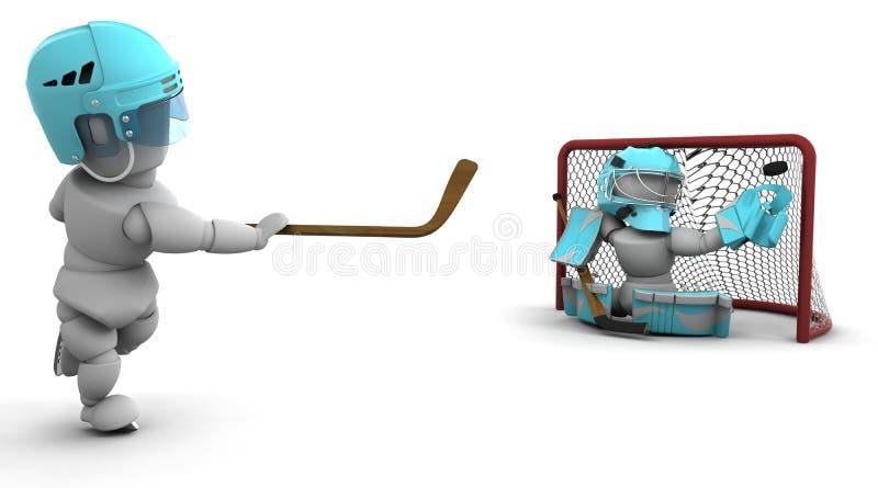hokeja lód royalty ilustracja