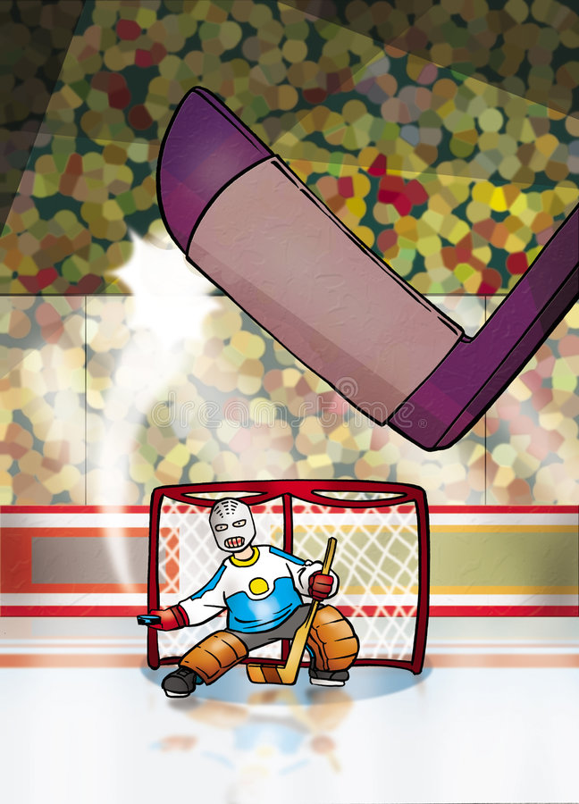 hokeja lód ilustracji