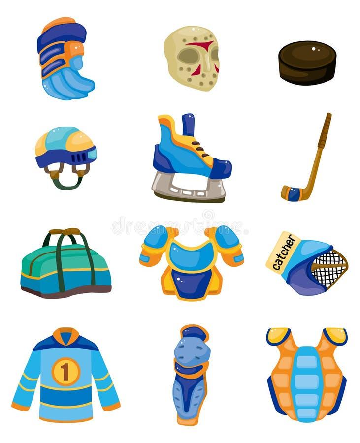 hokeja lodowy ikony setu wektor ilustracja wektor