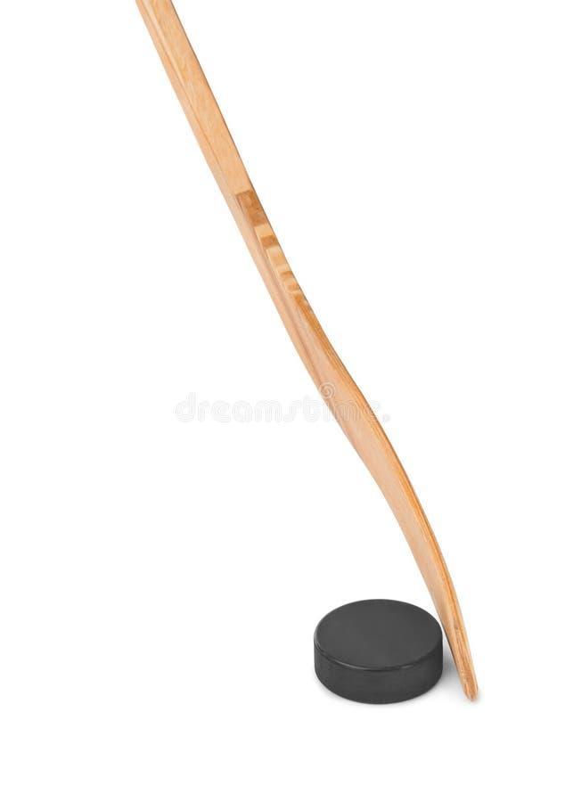 hokeja lodowy krążek hokojowy kij obraz royalty free