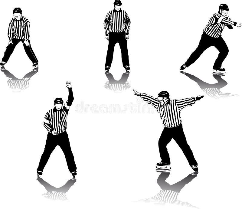 hokeja lodu arbiter ilustracja wektor