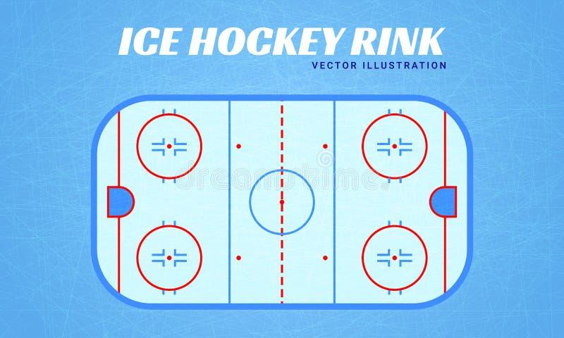Hokeja na lodzie lodowiska wektoru ilustracja Zima sportów projekt Mieszkanie styl 2007 lodowe Stycznia naturalnego ob Siberia ko ilustracja wektor