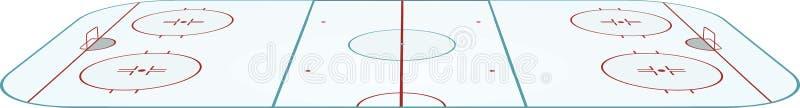 Hokeja pole royalty ilustracja