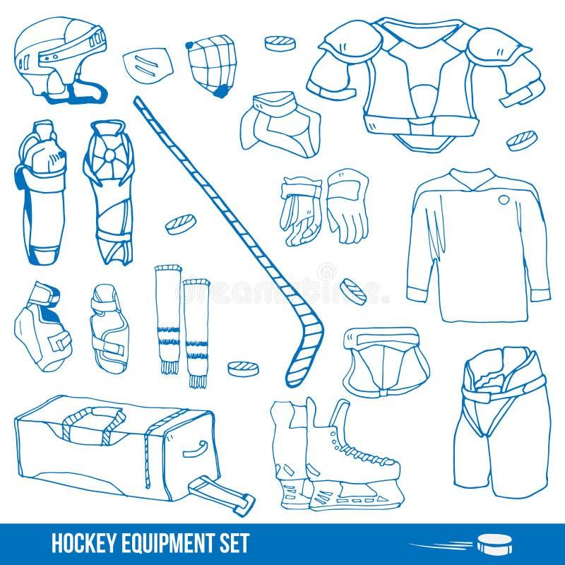 Hokeja set royalty ilustracja