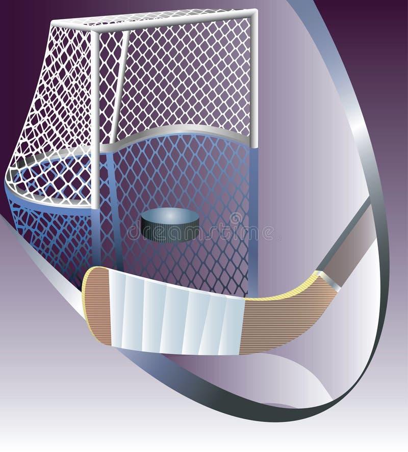 hokeja szczegółowy bramkowy lód ilustracja wektor