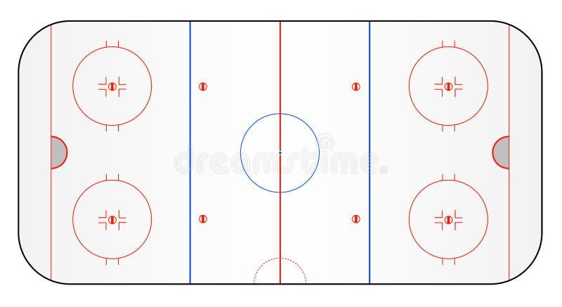 hokeja zmielony lód ilustracji