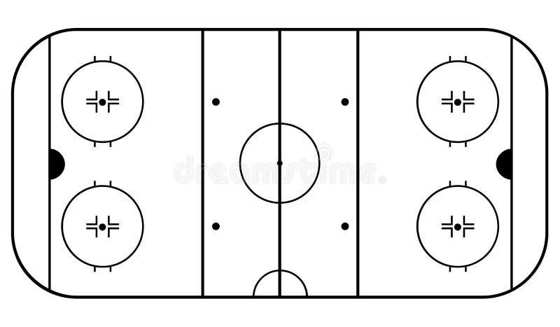 Hokejowa arena czarny tło biel 10 eps ilustracyjny osłony wektor ilustracji