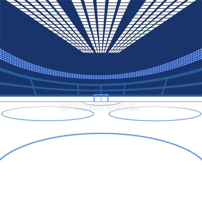 Hokejowa arena koloru córek wizerunku matka dwa ilustracji
