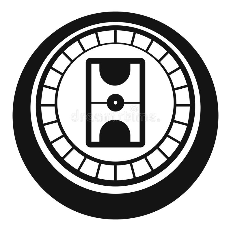 Hokejowa areny ikona, prosty styl royalty ilustracja